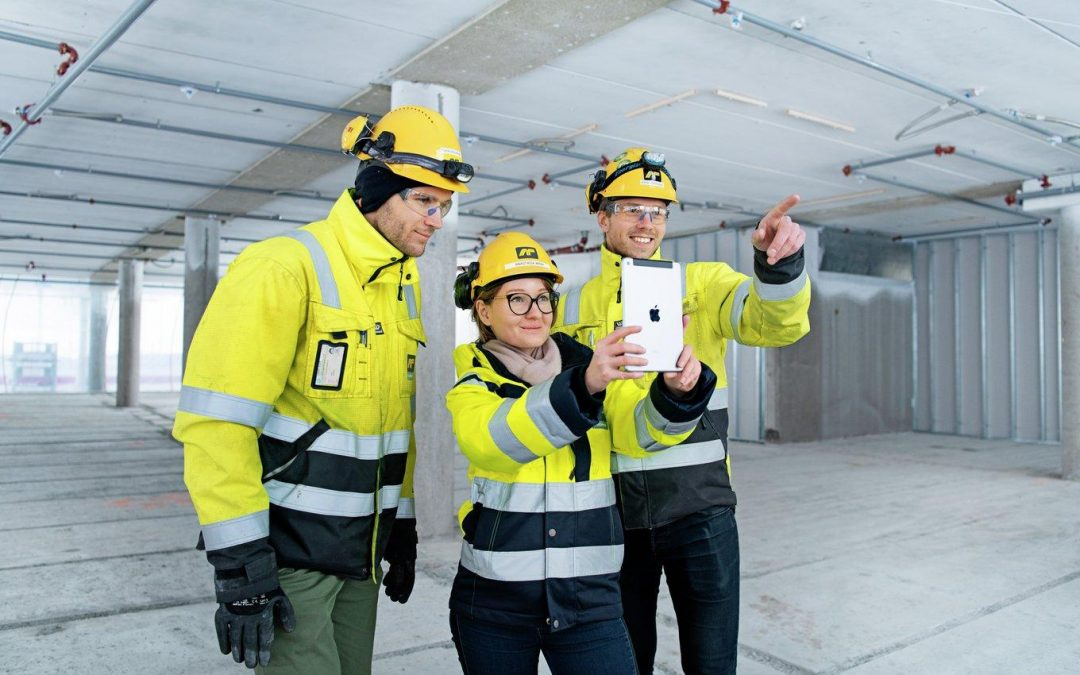 Norwegian construction workers use Augmented Reality technology